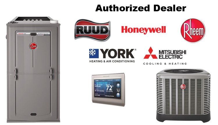 authorized dealer for Rheem, Rudd and Honeywell